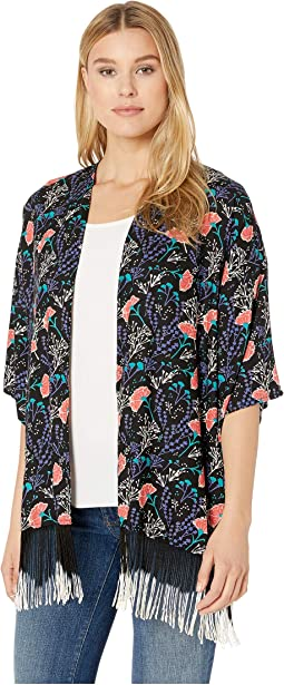 3/4 Sleeve Printed Kimono B4-9151