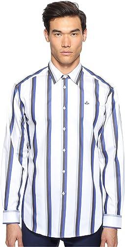 Bold Stripe Cutaway Shirt