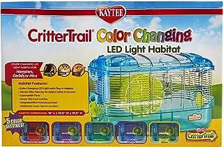 قفص كريتر تريل مزود باضاءة ليد متغيرة الالوان، قفص للهامستر واليرابيع والفئران من كايتي
