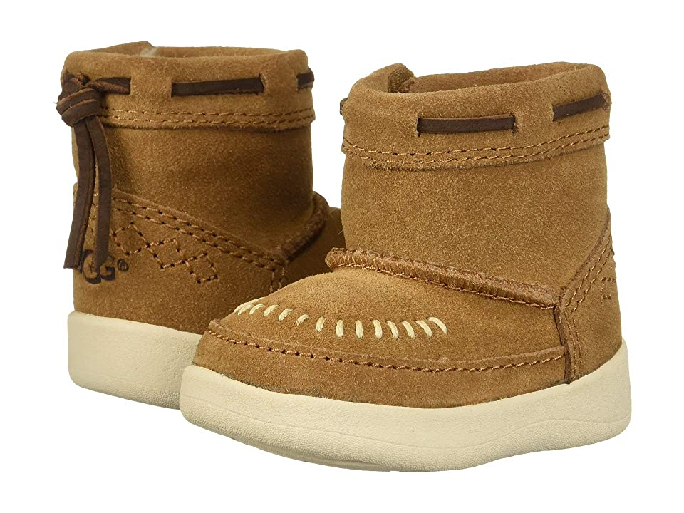 UGG Kids Cali Moc Campfire Bootie (Infant/Toddler) (Chestnut) Girls Shoes