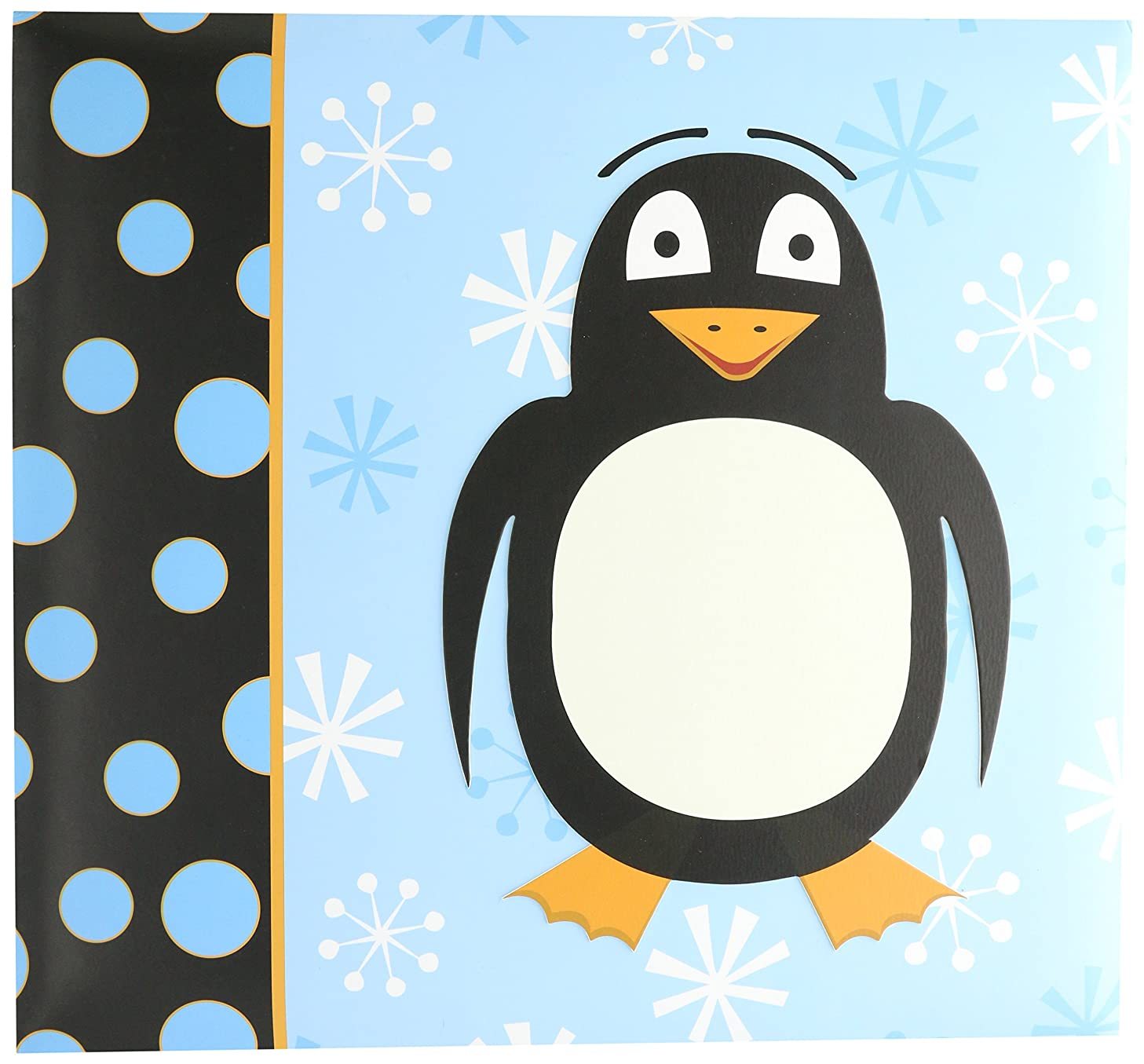 MCS MBI 13.5x12.5 Inch 3-D Raised Character Scrapbook Album with 12x12 Inch Pages, Penguin (848139)