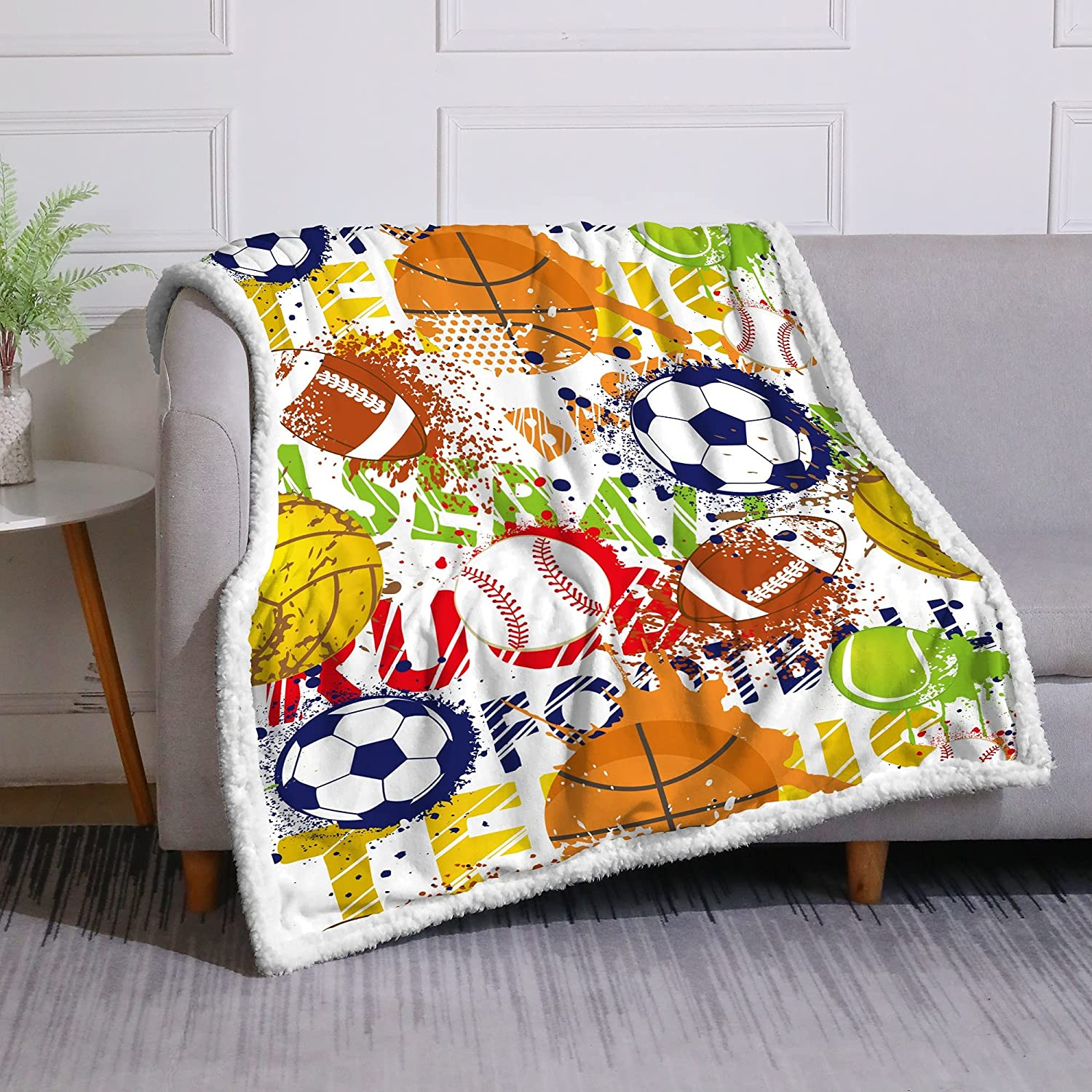 DUISE Sports Special price for a limited time Theme Throw Blanket Ranking TOP8 Youth Kids Teens Boys Baske