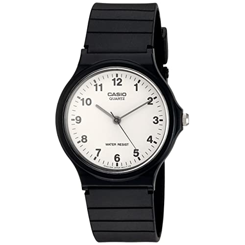 Casio Mens Quartz Resin Casual Watch, Color:Black (Model: MQ24-7B
