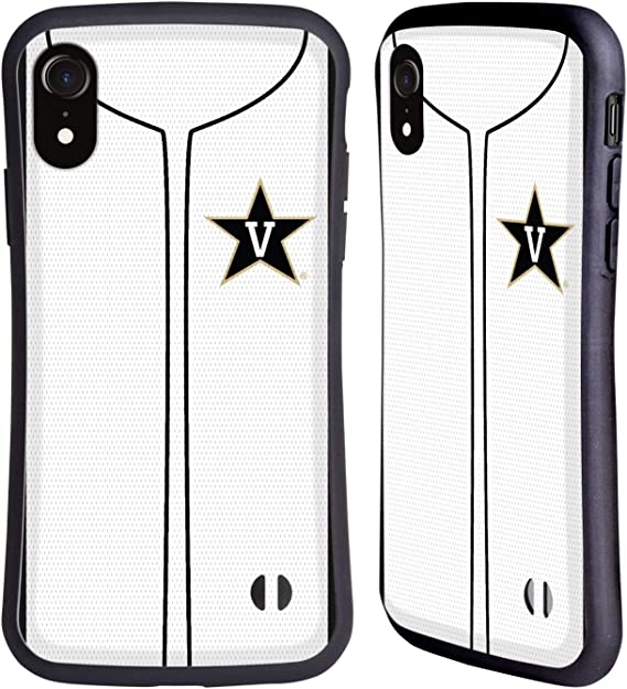 Head Case Designs Officially Licensed Vanderbilt University Vandy Baseball Jersey Hybrid Case Compatible with Apple iPhone XR