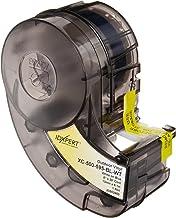 "Brady XC-500-595-BL-WT IDXPERT & LABXPERT Labels  B-595 Indoor/Outdoor Vinyl Film White on Blue, Printable Area: 19.000"" W x 0.500"" H 1 roll (30ft.)/Cartridge"