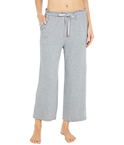 Kate Spade New York French Terry Cropped Wide Leg Pants (Heather Grey) Women