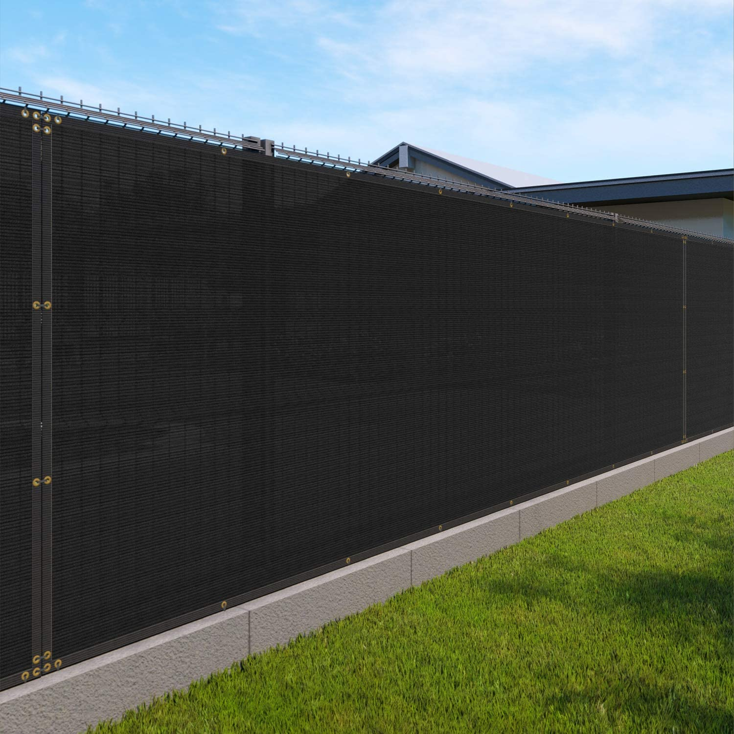 6' x 5' Privacy Fence Screen In a New popularity popularity in Blo 85% Brass Grommet with Black