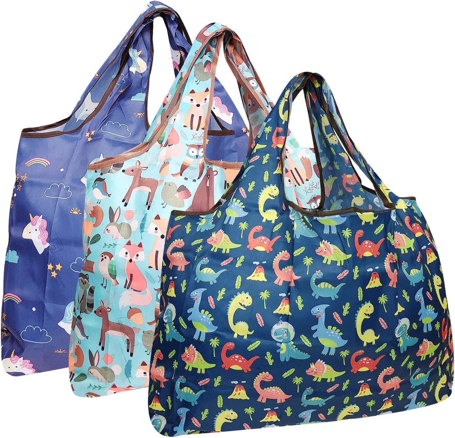 Bowbear Foldable Nylon Reusable Shopping Direct sale of manufacturer Grocery Reservation 3 Bag Set