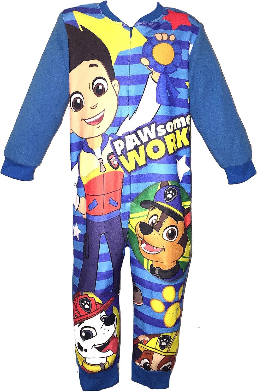 Age 2-8 Years Girls Boys Kids All-in-ONE Fleece Onesie Pyjamas Nightwear Avengers Shopkins PAW Patrol Frozen Batman Marvel Avengers