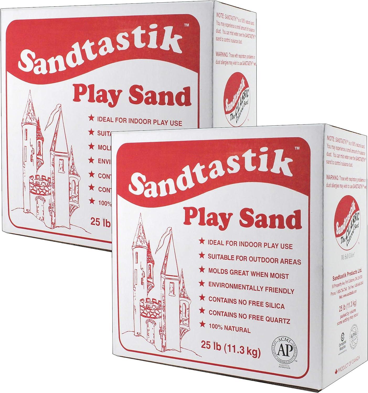 Sandtastik Sparkling White Play Sand, 25 lb (11.3 kg) Per Pack,