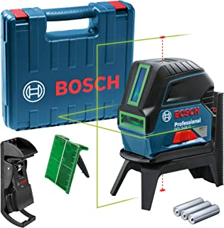 Bosch Professional cross line laser GCL 2-15 G (green laser,interior, with plumb points, working range: 15 m, 3 x 1.5 V ba...