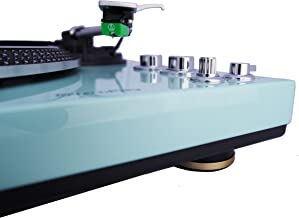 TechPlay TCP4530 Analog Turntable with Built-in Phono Pre-Amplifier, by-Pass Selecter, Auto-Return, Aluminum Platter and Direct PC Link, with Audio-Technica's AT95E Cartridge, Turquoise
