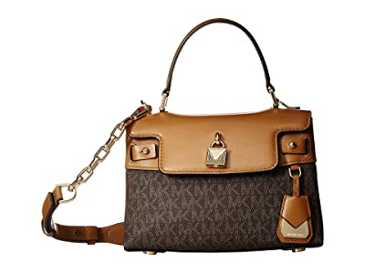MICHAEL Michael Kors Gramercy Small Top-Handle Satchel (Brown/Acorn) Satchel Handbags
