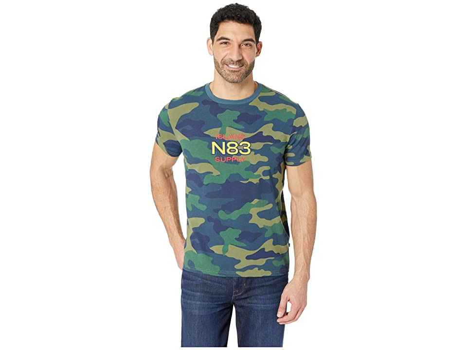 Nautica Short Sleeve Camo Logo Tee (Ensign Blue) Men