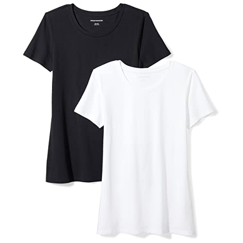 54ed316af4 Amazon Essentials Women's 2-Pack Classic-Fit Short-Sleeve Crewneck T-Shirt
