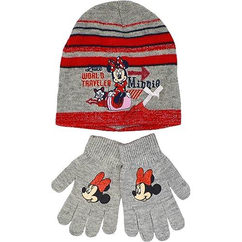 e5b8f921 Minnie Mouse Hat Gloves Girls Disney Winter Set