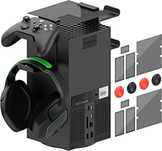 Controller Holder Top Dust Cover for Xbox Series X Console, MENEEA 16 in 1 Accessories Bundle for Xbox Series X, 2 Sets Du...