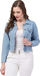 FUNDAY FASHION Full Sleeve Blue Solid Women's Denim Jacket…