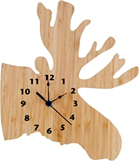 Trend Lab Bamboo Wall Clock, Brown, Northwoods/Moose