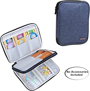 Luxja Knitting Needles Case(up to 8 Inches), Travel Organizer Storage Bag for Circular Needles, 8 Inches Knitting Needles and Other Accessories(NO Accessories Included), Dark Blue