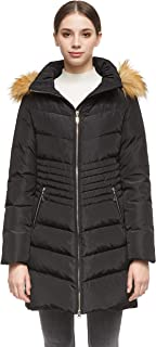 Orolay Women's Down Coat with Removable Faux Fur Hood
