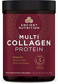 Ancient Nutrition Multi Collagen Protein Powder - Pure, Formulated by Dr. Josh Axe, 5 Types of Food Sourced...