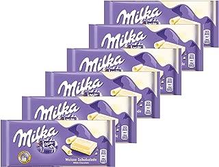Milka (Germany) Weisse Schokolade (White Chocolate) 6-Pack
