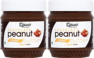 Diruno® Chocolate Peanut Butter Creamy 340gm (Gluten Free, Non-GMO) Pack of 2