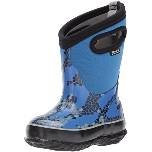 f3add9f39487 Bogs Kids Classic High Waterproof Insulated Rubber Rain and Winter Snow Boot  for Boys