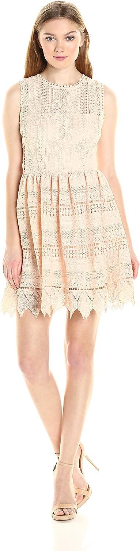BB Dakota Womens Elissa Lace FitnFlare Dress Dress
