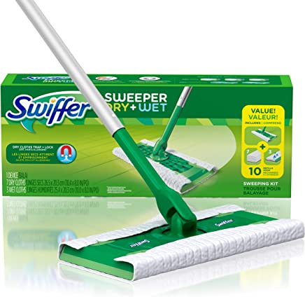 Swiffer Sweeper Dry and Wet Floor Mopping and Cleaning Starter Kit, All Purpose Floor Cleaning