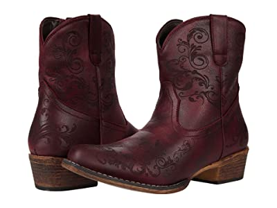 Roper Short Stuff (Red Faux Leather) Cowboy Boots