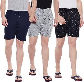 VIMAL JONNEY Multicolor Cotton Shorts for Men(Pack of 3) (D11-NV_PRTM_PRTB_003-P)