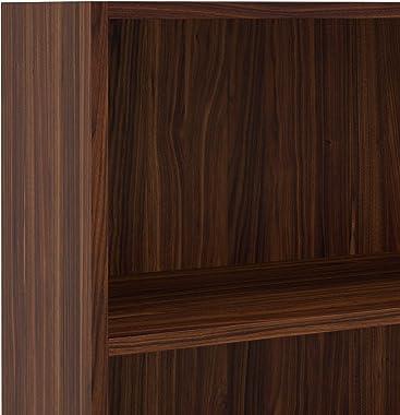 Amazon Brand - Solimo Mason Engineered Wood Bookcase (Walnut)