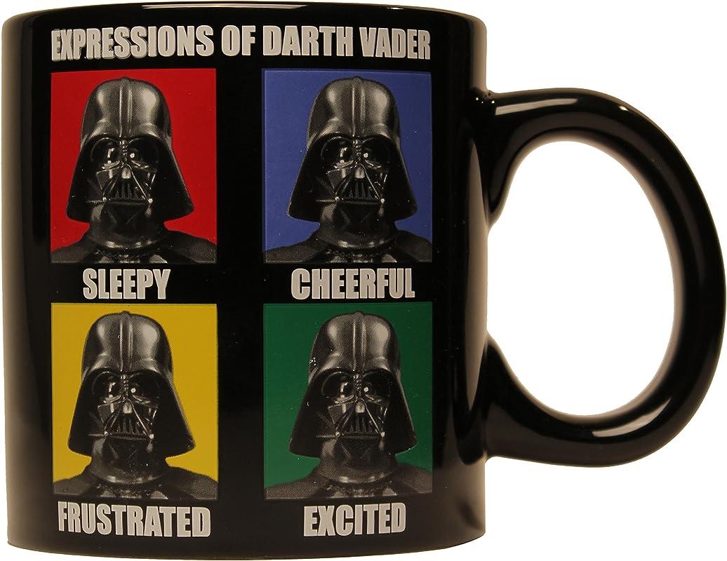 Star Wars Silver Buffalo SW7732 Darth Vader Ceramic Mug 14 Ounces 14 Oz Black