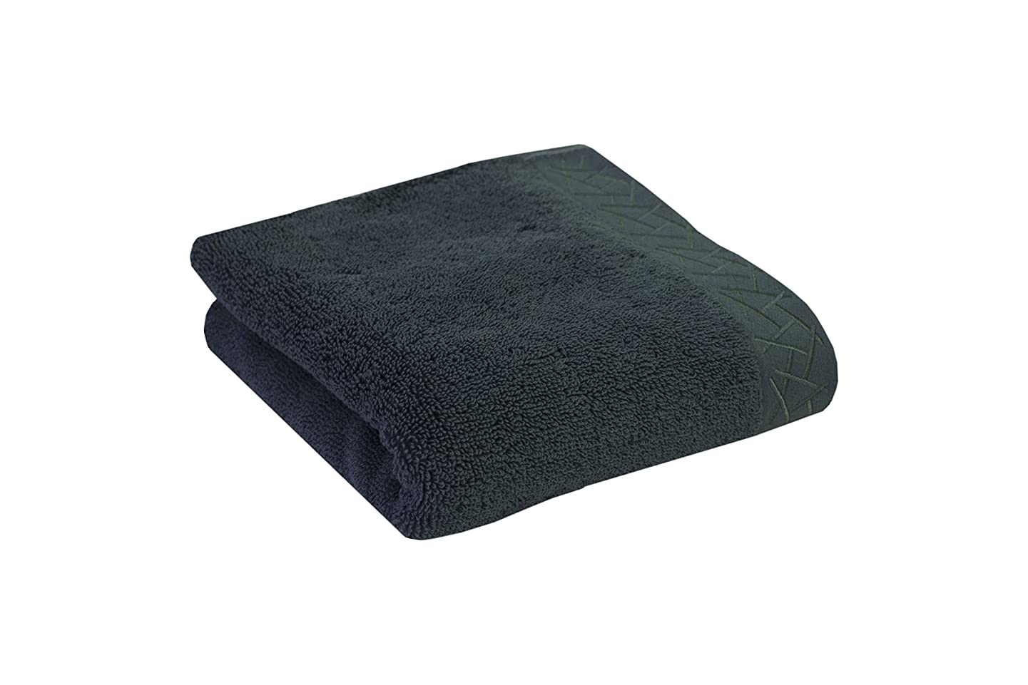 Natori 5030 Fretwork Hand Towel-Blue Spruce