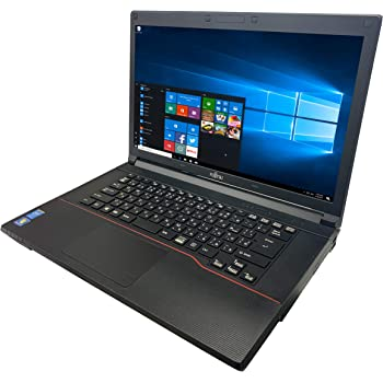 富士通 ノートPC A574/MS Office 2019/Win 10/15.6型/DVD/WIFI/Bluetooth/Core i5-4300M/8GB/512GB SSD (整備済み品)