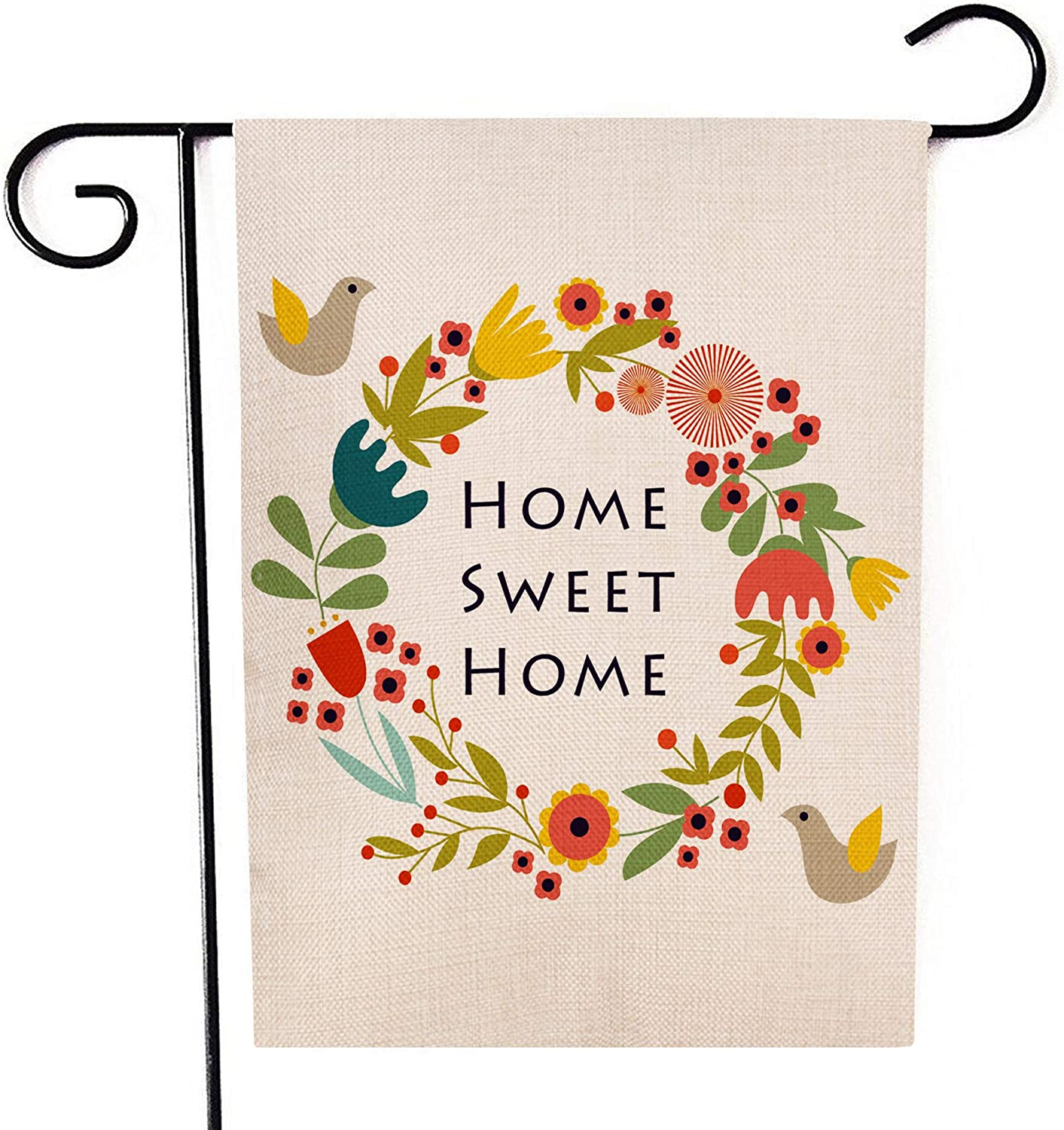 Ogiselestyle Home Los Angeles Mall Sweet Garden Flag Double Bird Decor All stores are sold Sided