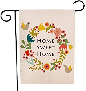 Ogiselestyle Home Sweet Home Garden Flag Bird Double Sided Decorative House Small Yard Decor Flags for Indoor & Outdoor Decoration 12 X 18 Inch