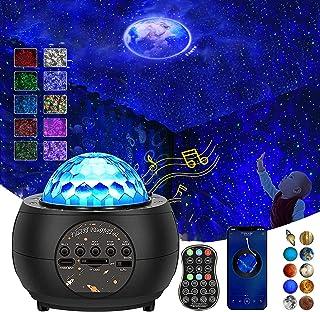 پروژکتور Galaxy Star چراغ شب برای کودکان بزرگسال ، پروژکتور Gaoye Ocean Wave با بلوتوث بلندگوی موسیقی کنترل از راه دور پروژکتور نورگیر سقفی روشنایی قابل تنظیم برای دکور اتاق خواب