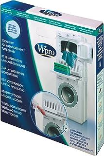 Wpro SKS101 Verbindungsrahmen Waschmaschine/Trockner Säule ORIGINAL Bauknecht 484000008436 480181701002 Zwischenbaurahmen UNIVERSAL ausziehbar Ablage wie Ignis Whirlpool Ikea SKU: 1000026027-000