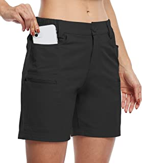 Willit Women's Hiking Cargo Shorts Stretch Golf Active Shorts Water Resistant Outdoor Summer Shorts with Pockets 5
