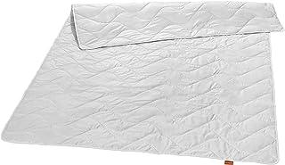 sleepling 196356 Nature Soie sauvage surpiquée en soie 100 % soie Tussah Blanc 220 x 240 cm