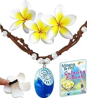 Princess Charms MOANA NECKLACE 3 Flower Clips & E-Book