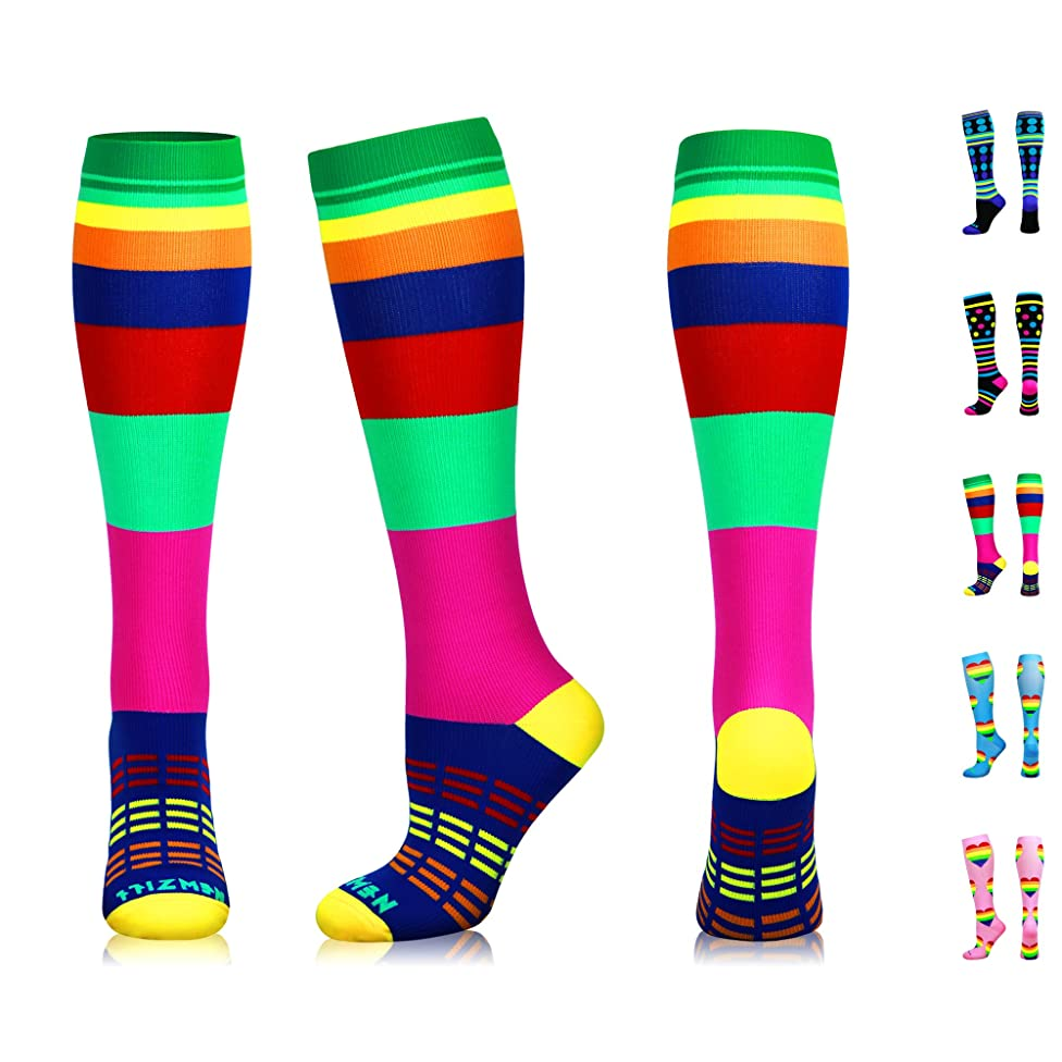 NEWZILL Compression Socks (20-30mmHg) for Men & Women, Best Graduated Athletic Fit for Running, Nurses, Shin Splints, Flight Travel & Pregnancy. Boost Circulation