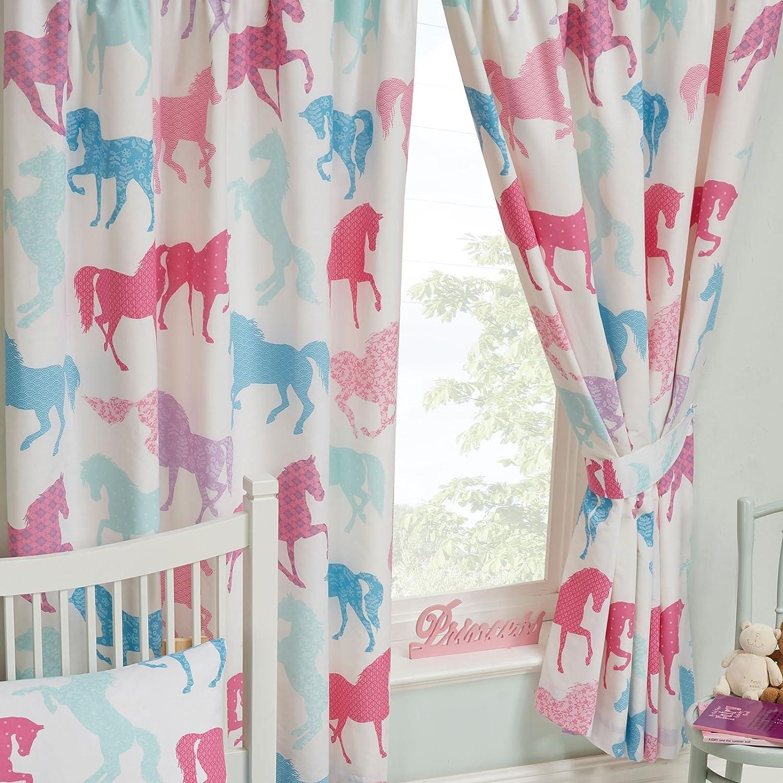 Patchwork Ponies Ponies Ponies Horses Pferde Lined Vorhänge 72  Drop B075JG41J5 de3e14