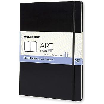 """Moleskine Art Sketchbook, Hard Cover, A4 (8.25"""" x 11.75"""") Plain/Blank, Black, 96 Pages"""