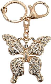 Schlüsselanhänger, Kristall, Schmetterling, Anhänger, Geldbörse, Tasche, Schlüsselanhänger, Kette für Hochzeit, Party, Freundin, Mädchen