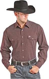 Men's Peached Poplin Print Button Down Shirt