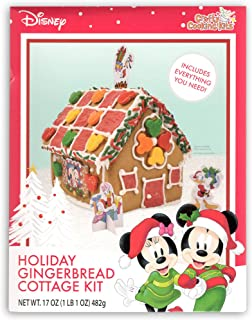 Crafty Cookie Kits Disney Mickey Mouse Holiday Gingerbread Cottage Kit - Perfect Holiday Christmas Gingerbread House, Awesome Holiday Decoration - Contents Weigh 17 oz
